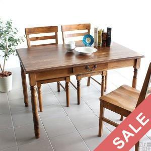 テーブル 木製 高さ70cm ダイニングテーブル アンティーク カントリー 北欧家具 無垢 食卓テーブル new arc 120T|arne-rack