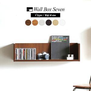 ウォールシェルフ ホワイト 白 洗面所 ウォールラック 壁掛け 棚 木製 コの字型 WallBoxSeven Ctype単品M|arne-rack