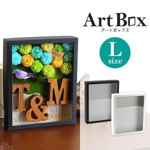 標本箱 ギフトボックス ウェルカムボード 結婚式 ラッピング用品 フレーム 工作 図工 ディスプレイ インテリア ギフト アートボックス Art box Lサイズ|arne-rack