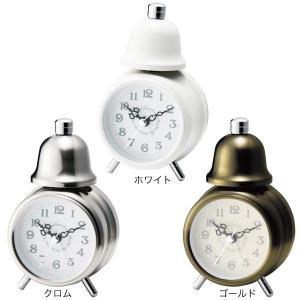 目覚まし時計 おしゃれ 置き時計 DEAR ディアー テーブルクロック ホワイト/クロム/ゴールド CL-4982|arne-rack