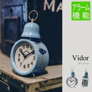 置き時計 おしゃれ アメリカン 雑貨 ブルー アンティーク 時計 子供 目覚まし時計|arne-rack