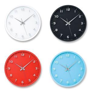 掛け時計 スイープムーブメント レムノス 電波 北欧 カフェ おしゃれ 電波掛時計 Lemnos 置き掛け兼用時計 nine clock ナインクロック LC08-14W|arne-rack