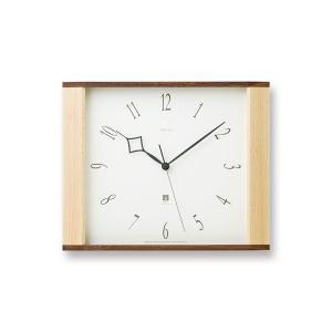 掛け時計 スイープムーブメント レムノス 電波 北欧 カフェ 電波時計 木製 Lemnos New Erias ニューイリアス LC10-01W|arne-rack