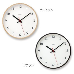 壁掛け時計 おしゃれ 電波時計 アナログ時計 シンプルな電波掛け時計 スイープムーブメント プライウッドクロック Plywood clock LC10-21W ナチュラル/ブラウン|arne-rack