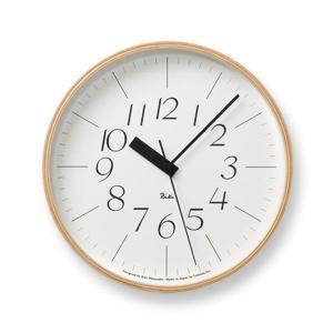 壁掛け時計 おしゃれ 電波掛時計 アナログ時計 シンプル電波時計 リキクロック RIKI CLOCK RC WR07-10 Lemnos レムノス ナチュラルなインテリア雑貨|arne-rack