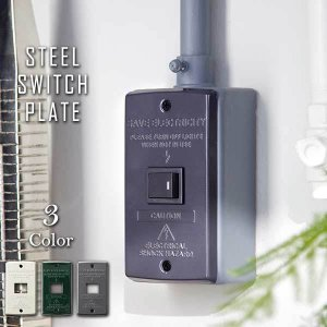 スイッチ パネル プレート カバー 1口 TK-2081 Steel Switch plate 1 バター/グリーン/グレー|arne-rack