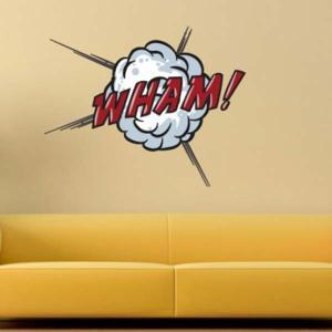 壁 ステッカー ウォール 漫画 おしゃれ 壁面装飾 Comic Book Wall Stickers WHAM!|arne-rack