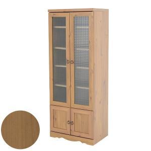 食器棚 カントリー 食器 収納 ガラス 扉付き 木製 アンティーク おしゃれ キッチンボード ハイタイプ|arne-rack