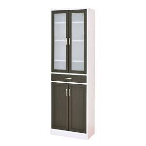カップボード モダン 大型 食器棚 食器 収納 ガラス 扉 北欧 カフェ 幅約60 おしゃれ|arne-rack