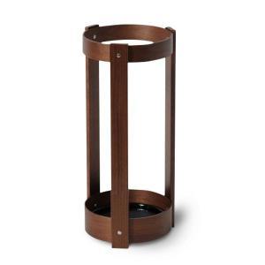 傘立て おしゃれ 木製 カフェ サイトーウッド US-02WN UMBRELLA STAND ウォールナット|arne-rack