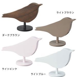 アラームクロック かわいい 目覚まし時計 おしゃれ Bird Alarm Clock TKM56 ライトブルー/ライトブラウン/ライトピンク IDEA イデア|arne-rack