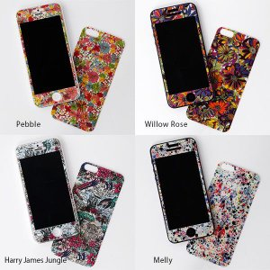 スマホ シール カバー スマホカバー Fabric Sheets for iPhone iphone5 Pebble/Willow Rose/Harry James Jungle/Melly 保護フィルム|arne-rack