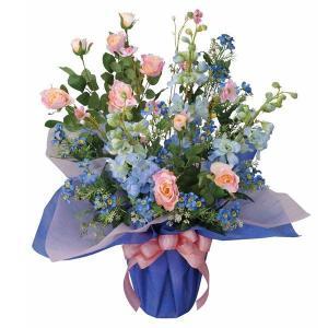 造花 ブルーリバー 光触媒 観葉植物 インテリア 人気 おしゃれ 造花 アートフラワー ギフト 花|arne-rack