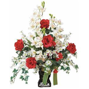 造花 ローズカップ 光触媒 観葉植物 インテリア 人気 おしゃれ 造花 アートフラワー ギフト 花|arne-rack