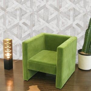 北欧 カフェ ソファ おしゃれ 一人掛け グリーン モケット生地 adソファ (緑 深緑 green darkgreen)|arne-sofa