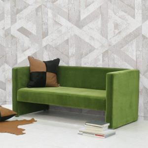 ソファー 2人掛け ミッドセンチュリー カフェ モケット ベロアグリーン 北欧 緑 adソファ 高級 (緑 深緑 green darkgreen)|arne-sofa