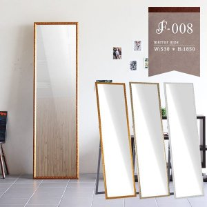 全身鏡 スタンドミラー アンティーク 白 壁掛け ウォールミラー アンティーク調 鏡 玄関 F-008SM4818|arne-sofa