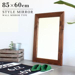 ウォールミラー 洗面 木枠鏡 壁掛け ミラー 木製 鏡 壁掛け アジアン 玄関 洗面鏡 style WM4570 ライトブラウン arne|arne-sofa
