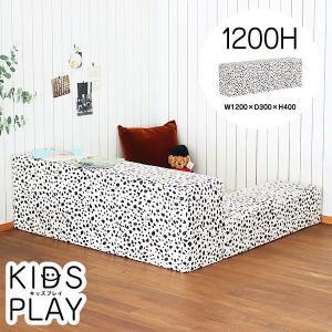 プレイマット キッズコーナー キッズスペース ブロック 商業施設 防汚 日本製 単品 kids play 1200H チャッピー ダルメシアン柄|arne-sofa