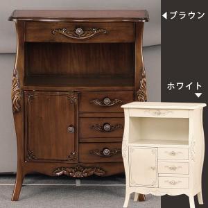 電話台 アンティーク デスク 玄関収納 テーブル 猫脚 猫脚家具 おしゃれ 姫系 ファックス台|arne-sofa