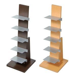本棚 本置き ブックラック ブックタワー ベッドサイド 本 収納 ディスプレイ ロータイプ L53DA/L54NA 5段ラック|arne-sofa