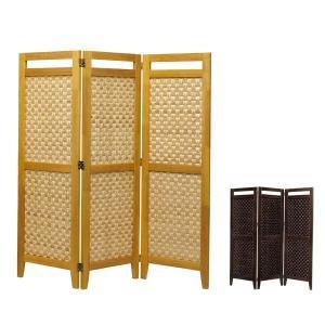 パーテーション リゾート風 インテリア おしゃれ パーティション 間仕切り 竹素材 アジアン 和風 パーティション スクリーン 3面 高さ130cm|arne-sofa