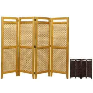 パーティション リゾート風 インテリア 間仕切り 衝立 パーテーション スクリーン 竹素材 アジアン 和風 4面 高さ130cm|arne-sofa