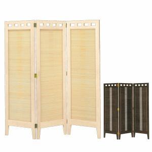 パーテーション リゾート風 インテリア アジアン 和風 パーティション スクリーン 3面 高さ130cm ホワイト/エスニック|arne-sofa