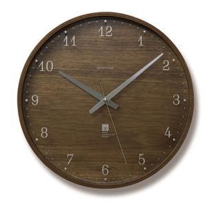 掛け時計 レムノス 電波 壁掛け時計 木製 北欧 電波時計 ...