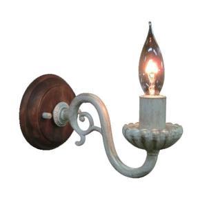 ブラケットライト 照明 アンティーク ブラケットライト 1灯 レトロ ライト おしゃれ インテリアライト 壁掛け照明 照明器具 ウォールランプ FC-WW770R|arne-sofa