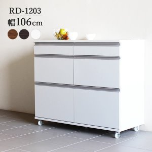 キッチン収納 レンジ台 完成品 キャスター付き キッチンカウンター 間仕切り コンセント付き RD-1203|arne