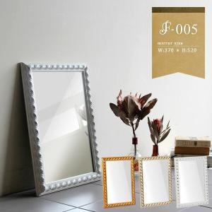 鏡 ロココ調 ミラー 壁掛け アンティークミラー 小さめ ホワイト 壁掛けミラー おしゃれ 洗面鏡 幅37cm 高さ52cm F-005WM3045|arne
