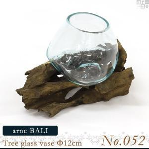 花瓶 ガラス ガラスベース フラワーベース arne BALI Tree glass vase Φ12cm 【No.052】 アーネ インテリア|arne