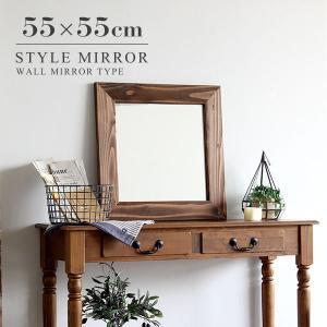 鏡 壁掛け おしゃれ 洗面台 アンティーク ウォールミラー 卓上 ミラー 卓上ミラー 壁掛けミラー 木 木製|arne