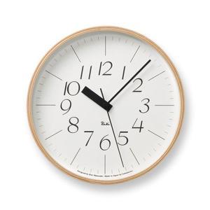 壁掛け時計 おしゃれ 電波掛時計 アナログ時計 シンプル電波時計 リキクロック RIKI CLOCK RC WR07-10 Lemnos レムノス ナチュラルなインテリア雑貨 arne