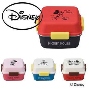 お弁当箱 ディスニー 2段 弁当箱 子供 女子 おしゃれ ランチBOX 正方形 プレゼント ミッキー/ミニー/ドナルド|arne