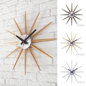 壁掛け時計 おしゃれ 木製 Atras 2-clock TK-2074 アトラス ブラウン/ナチュラル/ホワイト ウォールクロック アートワークスタジオ|arne