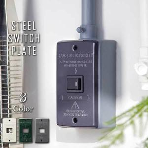 スイッチ パネル プレート カバー 1口 TK-2081 Steel Switch plate 1 バター/グリーン/グレー|arne
