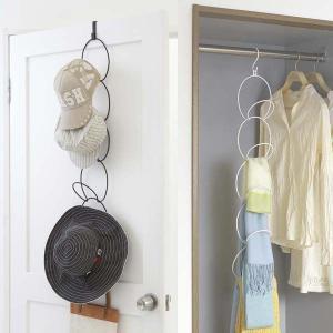 ドアフック 帽子掛け フック 壁掛けフック ドアフックハンガー ジョイントハンガー リングス ホワイト/ブラック|arne