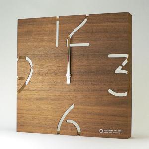 木製 壁掛け時計 おしゃれ 電波掛時計 電波時計 YK10-102 PUZZLE 電波時計 ウォールナット ヤマト工芸|arne
