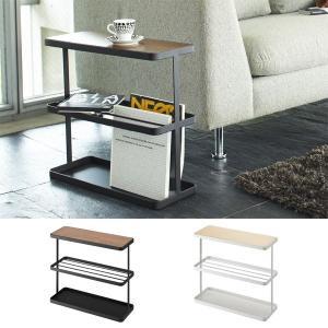 サイドテーブル ソファサイドテーブル ベッドサイドテーブル 雑誌収納 薄型 tower タワー ホワイト/ブラック|arne
