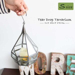 テラリウム 容器 ガラス 植物 おしゃれ アイアン 雑貨 花瓶 アンティーク 吊るす 観葉植物 Tear Drop Terrarium small|arne