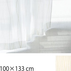 カーテン 北欧 レースカーテン 北欧 Rio リオ 巾100×133cm ホワイト クォーターリポート QUARTER REPORT arne