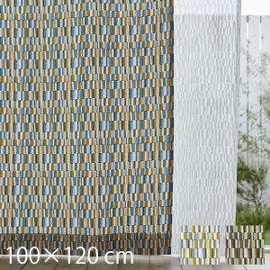 カーテン Tile (タイル) 100×120cm 2枚入り サイズ:幅1000 高さ1200 mm...