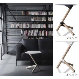 ソファサイドテーブル 木目 テーブル サイドテーブル 丸テーブル DU-0210 TRE ブラック/ホワイト DUENDE デュエンデ|arne