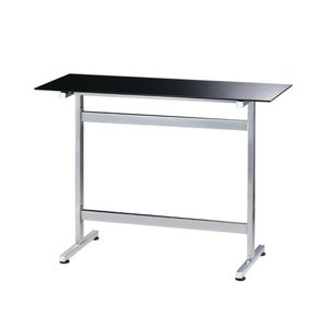 テーブル カウンターテーブル ガラス ダイニングテーブル モダン 黒 ブラック スタイリッシュ おしゃれ バーテーブル|arne