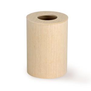 ゴミ箱 おしゃれ カフェ 木製 リビング 寝室 オフィス ミッドセンチュリー サイトーウッド 952H ドーナッツ蓋(L) 白木|arne