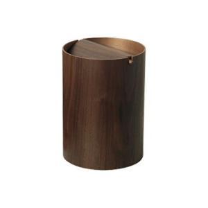 ゴミ箱 木製 おしゃれ インテリア 北欧 ミッドセンチュリー ごみ箱 プライウッド ダストボックス WN952A 回転蓋(L) ウォールナット サイトーウッド|arne