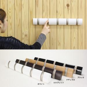 木製×メタルがおしゃれな壁掛けハンガーフック 壁掛け式のモダンな5連フックです。 コートやスーツなど...