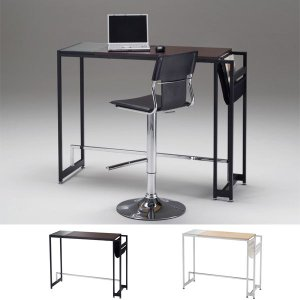 パソコンデスク ハイタイプ 収納付き ラック付き ハイテーブル BLIT AT-735CT 幅115cm|arne